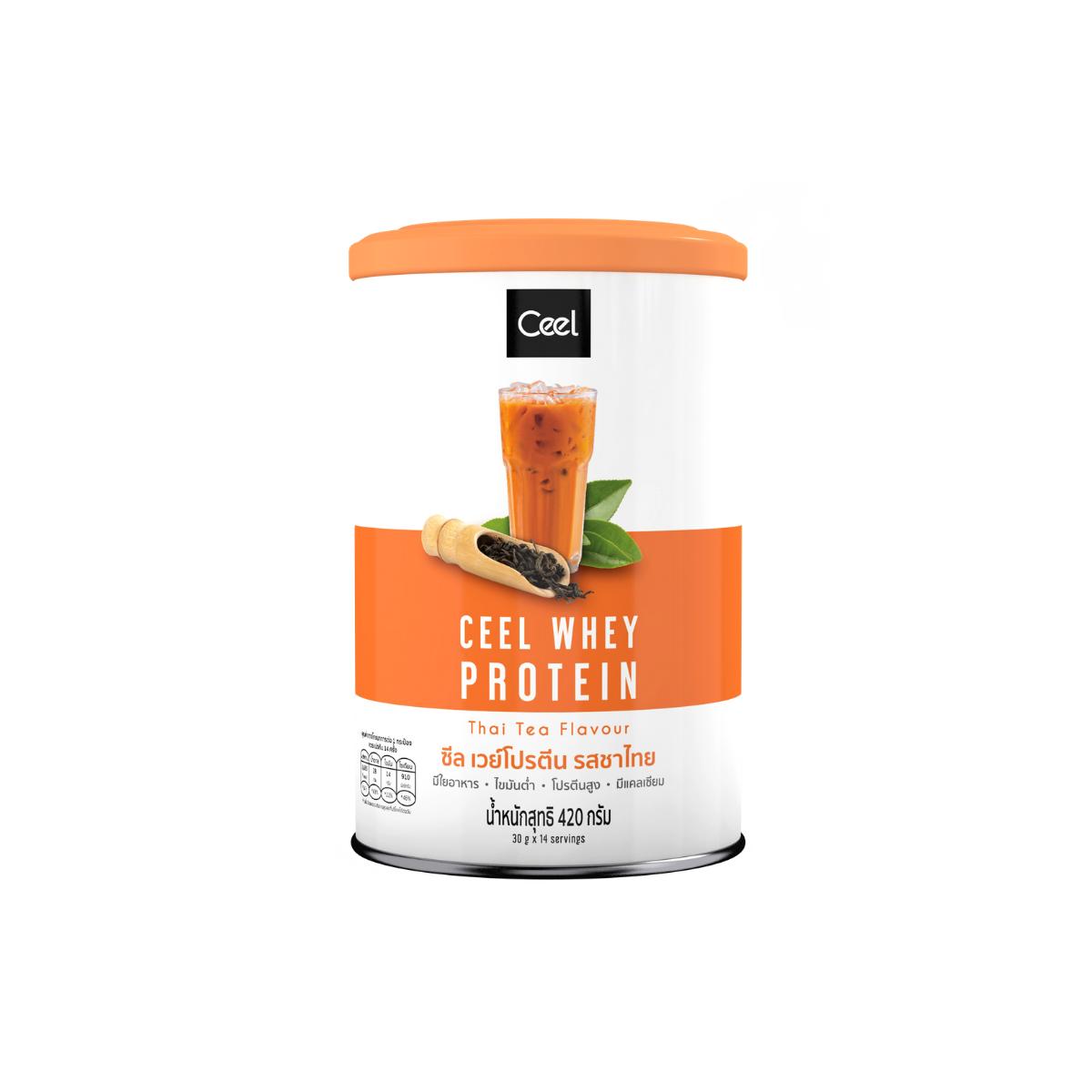 Ceel Whey Protein เวย์โปรตีนสำหรับผู้หญิง สูตรลีน ทานแทนมื้อหลักได้ รสชาไทย 420 กรัม